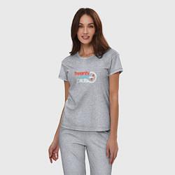 Пижама хлопковая женская Twenty One Pilots цвета меланж — фото 2