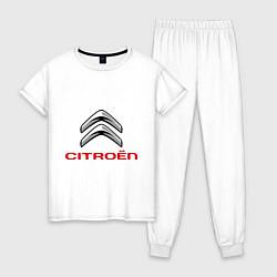 Пижама хлопковая женская Citroen цвета белый — фото 1