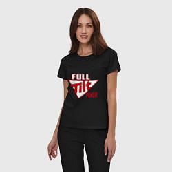 Пижама хлопковая женская Full Tilt Poker цвета черный — фото 2