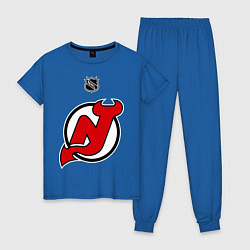 Пижама хлопковая женская New Jersey Devils: Kovalchuk 17 цвета синий — фото 1