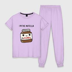 Пижама хлопковая женская Нутелла цвета лаванда — фото 1