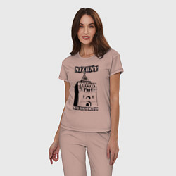 Пижама хлопковая женская Нижний Новгород цвета пыльно-розовый — фото 2