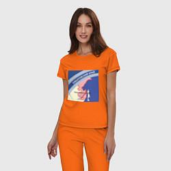 Пижама хлопковая женская Беломор: Хабаровский край цвета оранжевый — фото 2