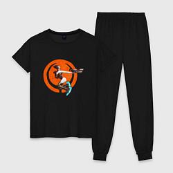 Пижама хлопковая женская Quake champions цвета черный — фото 1