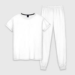Пижама хлопковая женская Korn Skeleton цвета белый — фото 1