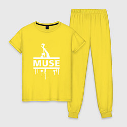 Пижама хлопковая женская Muse цвета желтый — фото 1