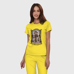 Пижама хлопковая женская Достоевский Федор Михайлович цвета желтый — фото 2