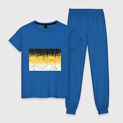 Пижама хлопковая женская Имперский флаг пикселами цвета синий — фото 1