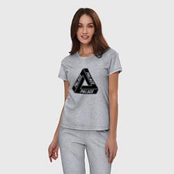 Пижама хлопковая женская Palace Triangle цвета меланж — фото 2