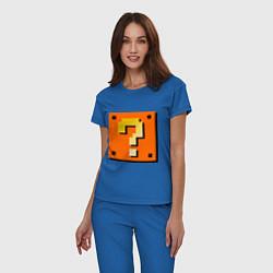 Пижама хлопковая женская Mario box цвета синий — фото 2