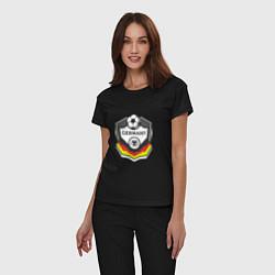 Пижама хлопковая женская Germany League цвета черный — фото 2
