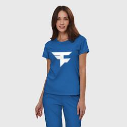 Пижама хлопковая женская FAZE Symbol цвета синий — фото 2