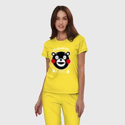 Пижама хлопковая женская Kumamon цвета желтый — фото 2