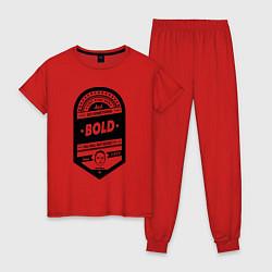 Пижама хлопковая женская Elon Musk: Since 1971 цвета красный — фото 1
