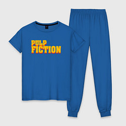 Пижама хлопковая женская Pulp Fiction цвета синий — фото 1