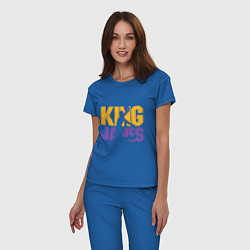 Пижама хлопковая женская King James цвета синий — фото 2