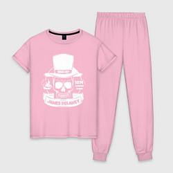 Пижама хлопковая женская Taboo: James Delaney цвета светло-розовый — фото 1