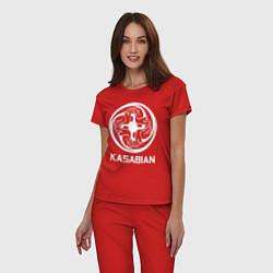 Пижама хлопковая женская Kasabian: Symbol цвета красный — фото 2