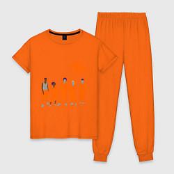 Пижама хлопковая женская Misfits Orange цвета оранжевый — фото 1
