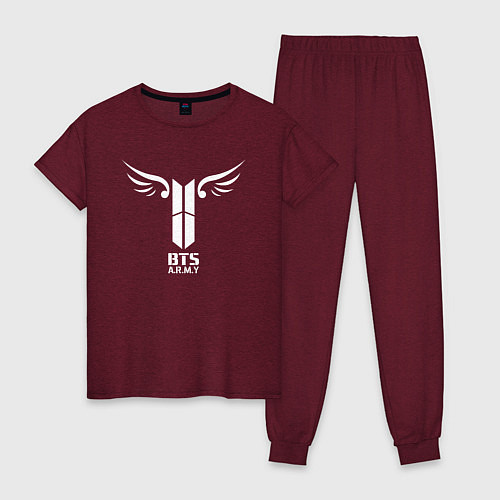 Женская пижама BTS ARMY / Меланж-бордовый – фото 1