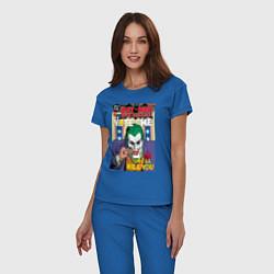 Пижама хлопковая женская Joker цвета синий — фото 2