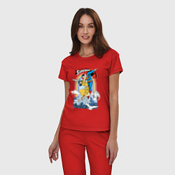 Пижама хлопковая женская Superman цвета красный — фото 2