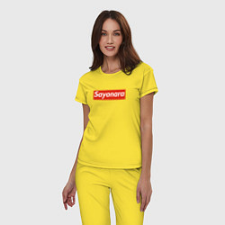 Пижама хлопковая женская SAYONARA BOY цвета желтый — фото 2
