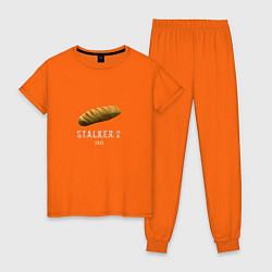 Пижама хлопковая женская STALKER 2: Батон цвета оранжевый — фото 1