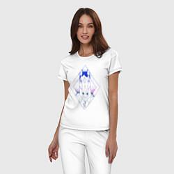 Пижама хлопковая женская BoJack Horseman цвета белый — фото 2