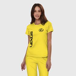 Пижама хлопковая женская LEXUS цвета желтый — фото 2