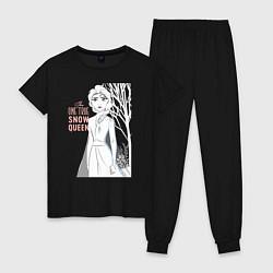 Пижама хлопковая женская Snow Queen цвета черный — фото 1