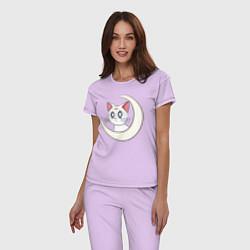 Пижама хлопковая женская Artemis цвета лаванда — фото 2
