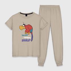 Пижама хлопковая женская Яго цвета миндальный — фото 1