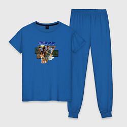 Пижама хлопковая женская Metal Gear цвета синий — фото 1