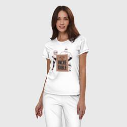 Пижама хлопковая женская Incredibles цвета белый — фото 2