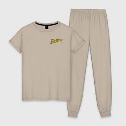 Пижама хлопковая женская Scrooge McDuck цвета миндальный — фото 1