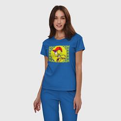 Пижама хлопковая женская Max Barskih цвета синий — фото 2