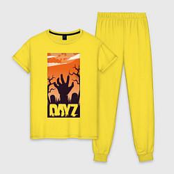 Пижама хлопковая женская DAYZ ДЕЙЗИ Z цвета желтый — фото 1