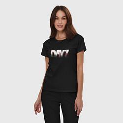 Пижама хлопковая женская DayZ цвета черный — фото 2