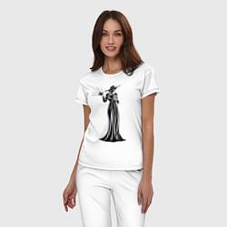 Пижама хлопковая женская Alcina Dimitrescu цвета белый — фото 2
