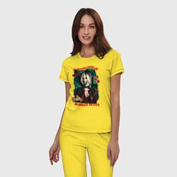 Пижама хлопковая женская Monstruitos De Harley Quinn цвета желтый — фото 2