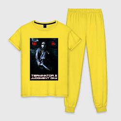 Пижама хлопковая женская Terminator JD цвета желтый — фото 1
