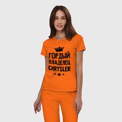 Пижама хлопковая женская Гордый владелец Chrysler цвета оранжевый — фото 2