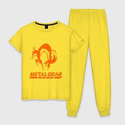 Пижама хлопковая женская Metal Gear Solid Fox цвета желтый — фото 1