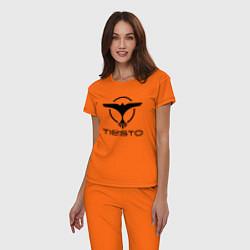 Пижама хлопковая женская Tiesto цвета оранжевый — фото 2