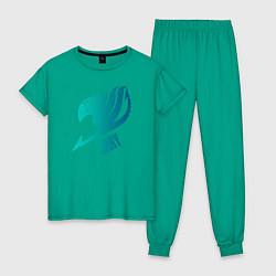 Пижама хлопковая женская Грей цвета зеленый — фото 1