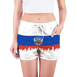 Шорты женские Altai: Russia цвета 3D — фото 2