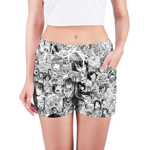 Женские шорты AHEGAO / 3D-принт – фото 3
