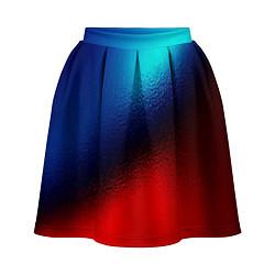 Женская юбка Синий и красный