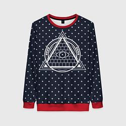 Свитшот женский Illuminati цвета 3D-красный — фото 1